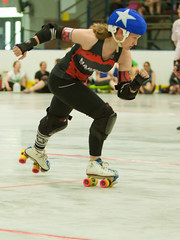 IMG_2322 (clay53012) Tags: womens flat track roller derby wftda derby flat track madison mrd league bout jammer jam team skate hartmeyer ice arena moocon2016
