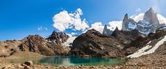 Laguna de los 3 (PBLO) Tags: lake 3 mountains verde roy azul trekking de los hiking nieve continental cerro nubes tres laguna hielo sendero montaas piedras roja fitz chalten