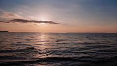 (joeldinda) Tags: 2003 sunset vacation sky cloud michigan panoramic september lakemichigan greatlakes vivitar pointshoot jollilodge leelanaucounty 3050