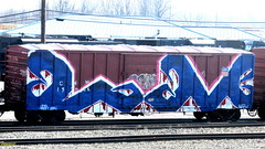 LM (timetomakethepasta) Tags: elem lm wholecar freight train graffiti union pacific boxcar cnw