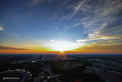 Walimex 14mm 2,8 (Bhood Pictures) Tags: sunset munich mnchen sonnenuntergang 28 walimex olympictower 14mm olypiaturm