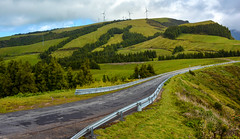 Green Energy (free3yourmind) Tags: road mountains green portugal nature clouds day wind cloudy hills generators turns azores