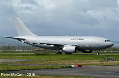 10+27 A310 Glasgow May 2016 (pmccann54) Tags: luftwaffe 1027 airbusa310