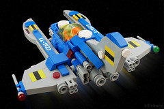 Shake a New Tail Feather Baby (billyburg) Tags: classic ship lego space astronaut nasa spaceman benny update exploration lunar outpost spaceflight geological spacewoman spacex ll1923