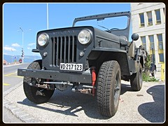 Willys Jeep (v8dub) Tags: auto old classic car schweiz switzerland automobile suisse jeep 4x4 automotive voiture american oldtimer oldcar willys collector wagen pkw klassik chavornay gelndewagen worldcars