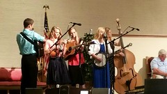 Singing at Abbi's baccalaureate (The Kingery Family) Tags: family pink blue red music white green mom fun grey dad purple singing baseball bluegrass brothers bass guitar sister group navy smiles mandolin banjo siblings indoors harmony fiddle kingery mic baccalaureate