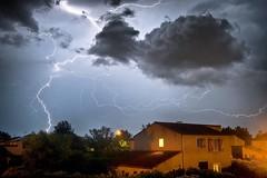 Orage au dessus de Roanne (guill.masseron) Tags: france night thunderstorm loire nuit thunder orage roanne orages roannais clair clairs instagramapp