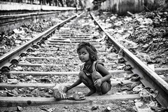 sweetness kolkata (daniele romagnoli - Tanks for 12 million views) Tags: road street railroad portrait blackandwhite bw india monochrome monocromo eyes nikon asia strada child indiana kind occhi sguardo indie sweetness enfant kolkata ritratto indien bianconero calcutta dolcezza tenderness slum biancoenero indiano slums inde ferrovia binari bambina   indiani  tenerezza  d810  calcuuta  romagnolidaniele