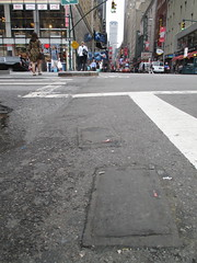 Two Fresh New Toynbee Tiles Theater District 2016 NYC 1347 (Brechtbug) Tags: street new york 2001 city nyc two white streets west up june st by corner dead idea bars theater cross traffic walk manhattan district under pedestrian pop fresh severino midtown made tiles ave planet ready commuter jupiter kubricks patch avenue 8th toynbee named verna tar crumbling sevy 44th possibly reclusive 2016 resurrect philadelphian 06152016