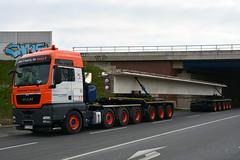 MAN TGX 41.530 XXL (Actros_4160) Tags: bridge man doll transport paderborn universal elo dolly brcke beton concret nachlufer tgx nijdamm