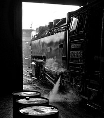 Wernigerode Harz Germany 16th May 2016 (loose_grip_99) Tags: railroad germany deutschland blackwhite tank noiretblanc shed may engine rail railway trains steam 99 transportation depot locomotive railways harz narrowgauge mpd 2016 hsb harzer schmalspurbahnen 72472 gassteam 2102t class9923 werinigerode