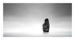 Ladram (Nick green2012) Tags: blackandwhite seascape long exposure 21 minimal seastack