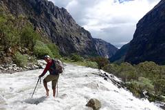 afternoon chilly water crossing - Quebrada Ruripaccha (*Andrea B) Tags: lake peru honda hiking walk january hike glacier blanca valley laguna cordillera huaraz quebrada quebradahonda 2016 cordillerablanca january2016 peruandesguide quebradaruripaccha ruripaccha lagunapaccharuri paccharuri