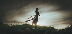 WGY/Project (Wladimir_J) Tags: sunset woman sun sunlight cute green girl beauty sunshine female landscape sundown wind