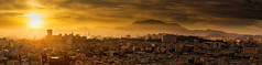 Morning Glory (Rifle-Coach) Tags: sky sun mountains yellow fog sunrise landscape dawn haze glow cityscape hazy southkorea lowsun hazysun gwangjusouthkorea