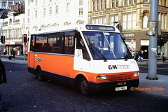 G M Buses 1611 (D611 MDB) (SelmerOrSelnec) Tags: bus manchester minibus mcw metrorider littlegem gmbuses piccadillybusstation d611mdb