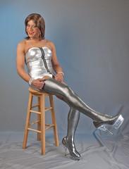 What A Leg! (kaceycd) Tags: highheels boots s tgirl pantyhose crossdress spandex lycra tg stilettos kinkyboots thighboots minidress wetlook platformboots stilettoboots sexyboots tubedress stockingboots