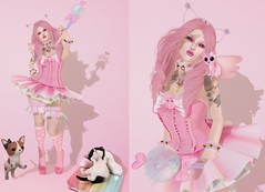 Post #1718 ( =^^=) Tags: pink cute pool fashion socks glitter cat puppy stars blog rainbow shoes pretty dress mesh head girly makeup nails secondlife bow kawaii hud dainty ruffle applier pinkatude sashakittehwildrose