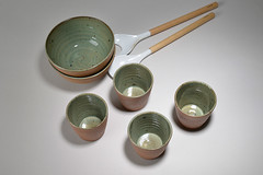 Tea-Bowl-green-brown-013 (cdkceramic) Tags: brown green ceramic teabowl    cdkceramic