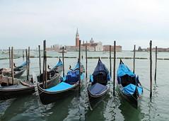 Gondoles (Thomas Schirmann) Tags: venice venise venezia sangiorgiomaggiore gondole