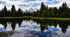 Spring in the Tetons (Jeff Clow) Tags: usa mountains reflection forest spring pond grandtetonnationalpark schwabacherlanding jacksonholewyoming