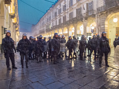 Riot police in the rain. Torino, January 2012. (joelschalit) Tags: street italy torino europe protest eu police demonstration piemonte turin europeanunion guardiadifinanza