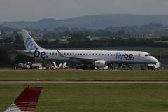 G-FBEI on stand. (aitch tee) Tags: aircraft airliner embraer flybe walesuk cardiffairport e190 gfbei maesawyrcaerdydd cwlegff