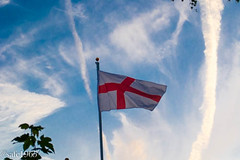 Patriotic Sky (safc1965) Tags: england sky st clouds flag georges
