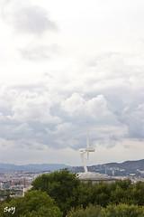 Torre Calatrava. (svet.llum) Tags: barcelona arquitectura torre ciudad paisaje calatrava catalunya catalua