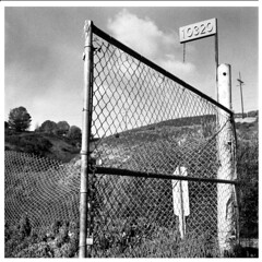 10320 No forwarding address (bc50099) Tags: hasselblad500cm zeiss80mmt tmax expiredtmy film ei200 modifieddiafineinetjoker55a5b socal backlot black white outdoors fence abandoned