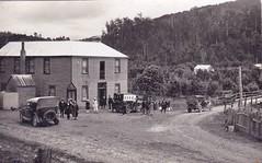 WHYTE RIVER HOTEL, WARATAH, TASMANIA -  pre 1929 (Aussie~mobs) Tags: 1920s car vintage hotel automobile burnt tasmania waratah destroyed whyteriver