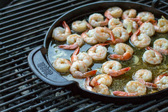 Shrimp on the Griddle (Another Pint Please...) Tags: shrimp grill butter griddle garlic seafood coals gourmetbarbequesystem