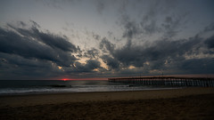 _DSC1494 (chriswheatley97) Tags: obx outer banks north carolina nags head fishing pier morning sunrise ocean beach sand clouds sun