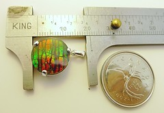 NEW ARRIVAL (The Ammolite) Tags: fossil minerals  ammolite ammonite mineral rock pendant jewelry jewellery