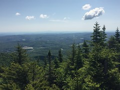 Haystack Mt. (daach14@sbcglobal.net) Tags: usa vermont nature outdoor green photo trip travel sky blue woods trees forest beauty life moutain rock rocks view iphone6 panorama
