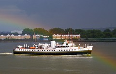 Balmoral (1) @ Gallions Reach 25-06-16 (AJBC_1) Tags: uk england storm london weather boat rainbow ship unitedkingdom vessel riverthames balmoral eastlondon gallionsreach nikond3200 northwoolwich newham excursionship historicship mvbalmoral londonboroughofnewham nationalhistoricfleet nationalhistoricshipuk uknationalhistoricfleet ajc