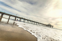 Manhattan Beach: Ebb and Flow (Jessie Chaisson) Tags: california sky west beach jessie photography coast pier los nikon day waves angeles manhattan sigma chaisson