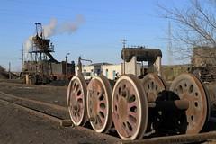 I_B_IMG_7385 (florian_grupp) Tags: china railroad train landscape asia mine desert muslim railway steam xinjiang mikado locomotive ore js steamlocomotive 282 opencastmine yamansu