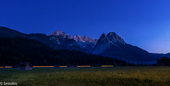 Fires on the Mountains (brookis-photography) Tags: sky mountains field train lights evening bluehour fires alpspitze waxenstein johannifeuer