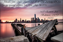 **IFF YOUR IN THE AREA PLEASE STOP ON BY.....** (**THAT KID RICH**) Tags: nyc newyorkcity sky ny motion colors skyline sunrise canon reflections river pier dock md sandy rich july maryland baltimore wtc hudson twisted destroyed quietstorm tkr skyporn zoeller oscarrivera thatkidrich 5dm2 richzoeller alchemyofart