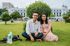A couple in downtown Yangon (ReinierVanOorsouw) Tags: reizen myanmar birma burma travelling travel travelstoke reiniervanoorsouw sony sonya7r sonya7rii a7rii asia asya azie yangon yangoon rangon rangoon people human asian asianpeople inasia azi travels undiscovered colour colours