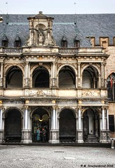 Renaissance style Facade of the Rathauslaube, Colognes Old Town Hall (PhotosToArtByMike) Tags: germany europe cityhall dom cologne rathaus oldtown renaissance koln rhineriver klnerdom loggia oldtownhall colognegermany colognecityhall klnerrathaus rathauslaube oldquarterofcologne
