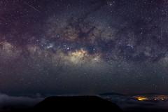 Mountain, Stars and Clouds (melfoody) Tags: milkyway stars maui mountain haleakala night sky starscape nightsky hawaii