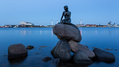 Copenhagen Fairytales (McQuaide Photography) Tags: city longexposure light summer urban colour reflection water statue architecture fairytale photoshop canon copenhagen denmark eos evening twilight lowlight rocks europe waterfront harbour availablelight widescreen tripod wideangle panoramic danish bluehour fullframe dslr scandinavia 169 danmark 1740mm waterside touristattraction kbenhavn lightroom waterscape 6d langelinie hanschristianandersen thelittlemermaid wideanglelens lseries northerneurope denlillehavfrue regionhovedstaden canon6d edvarderiksen capitalregionofdenmark mcquaidephotography