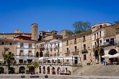 Plaza Mayor (Trujillo) (MigueR) Tags: plaza espaa fuji ciudad medieval cceres trujillo torres extremadura xt1