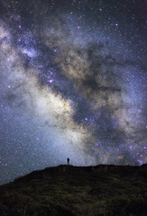 Imagine (MicahRoemmling) Tags: sky mountain silhouette night person star hawaii maui astro galaxy haleakala milkyway