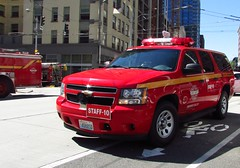 Seattle Fire Department STAFF 10 (zargoman) Tags: seattle water truck fire smoke police hose burning emergency firefighter department firefighters response dispatch