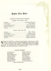 Sigma Tau Delta (Hunter College Archives) Tags: students 1932 yearbook fraternity hunter awards honors huntercollege studentorganizations organizations fraternities sigmataudelta wistarion thewistarion