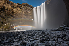 Double rainbow-Skgafoss (matt_frankel) Tags: snow ice water volcano waterfall iceland rainbow nikon rocks long exposure double falls filter splash nikkor f4 density neutral d600 skogafoss 1635mm eyjafjallajkull