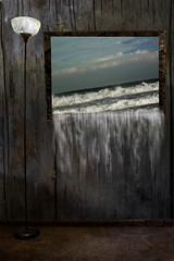 dream series 3 (nelsonjessica2121) Tags: ocean sky water waves picture surreal falling frame dreams series cracked pouring eere